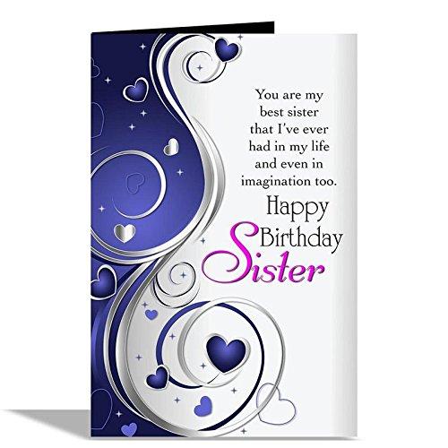 Alwaysgift Foil Happy Birthday Sister Greeting Card
