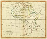 1799 School Atlas | A new map of Africa, according to the method of the Abbe Gaultier. By Mr. Wauthier, his pupil. 1799. | Antique Vintage Map Reprint