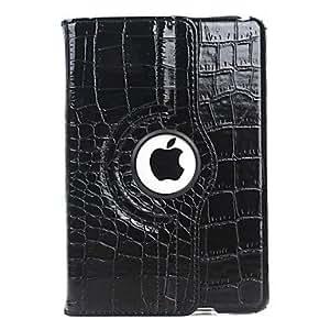 conseguir Grano del cocodrilo Diseño Caja giratoria de la PU de cuero con soporte para iPad mini (colores surtidos) , Blanco
