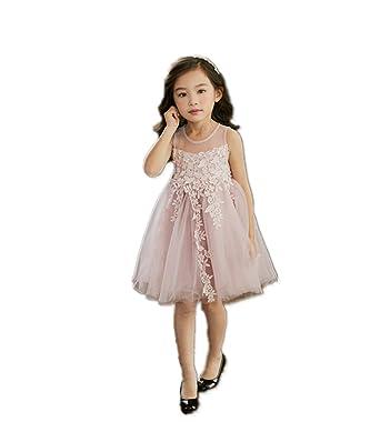 a36632e6a1353 AIKEE 女の子 フラワーガール ワンピース ドレス ガールズ 夏 ノースリーブ チュールドレス キッズ ジュニア 学生 フォーマルワンピース