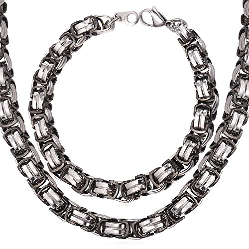 Chunky Necklace Stainless Byzantine Chain
