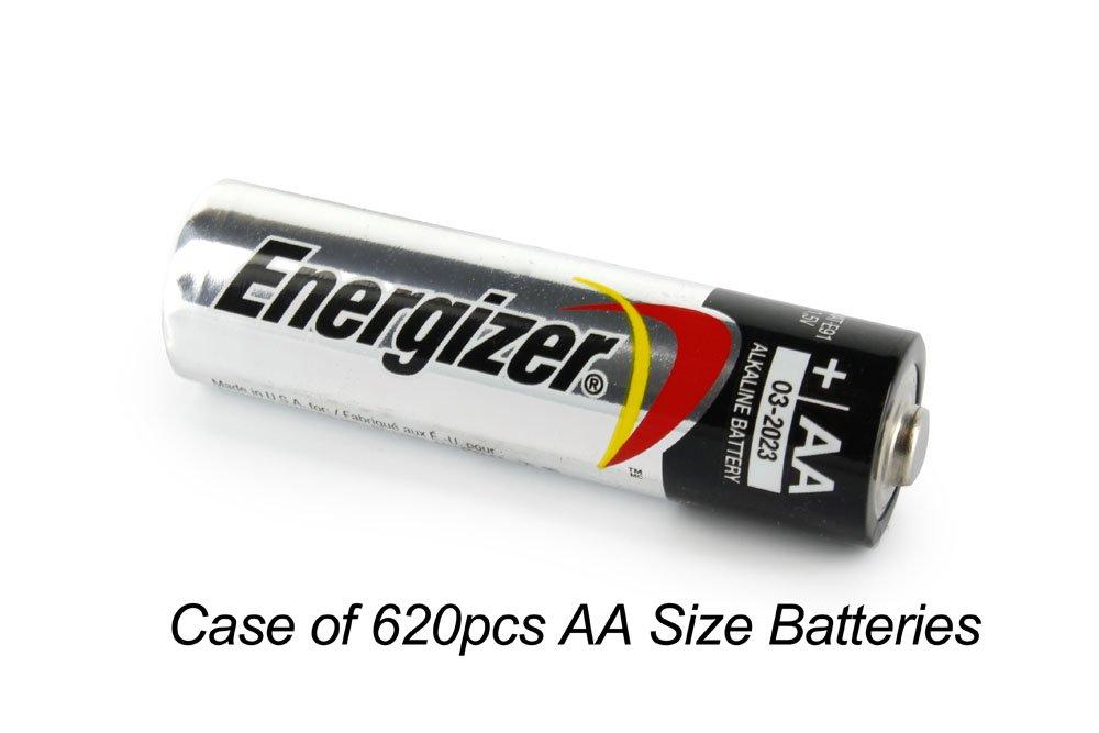 Case of 620 pcs AA Energizer Alkaline Battery E91