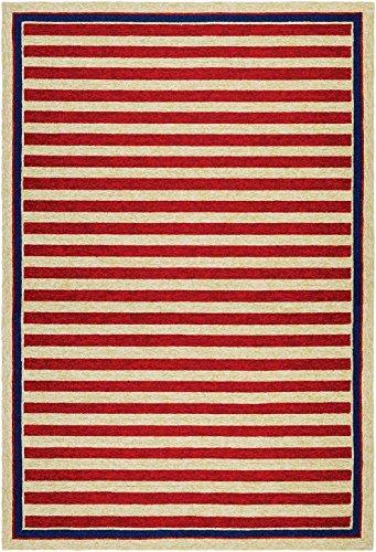 [Couristan Covington Collection Round Nautical Stripes Rug, 2'6