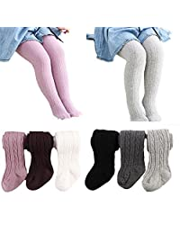 6 Pack of Baby Infant Toddler Kids Girl Legging Pants Tights Stockings