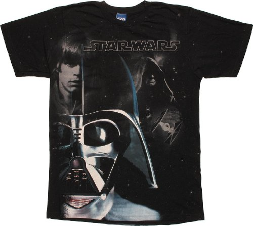Star Wars Vader Luke Sidious T-Shirt Sheer (Distressed Sheer T-shirt)