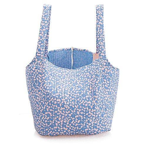 1848cd8024ea6 BECKSÖNDERGAARD Shopper Damen Blau Weiß Geräumige Schultertasche oder  Strandtasche Farbe Blue Nights Baumwolle 1801412045216