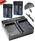 BM Premium 2 Pack of D-LI109 Batteries and USB Dual Battery Charger for Pentax KP, K-R, K-S1, K-S2, K-30, K-50, K-70, K-500 Digital SLR Camera