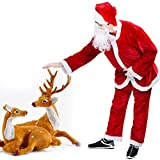 Dolloly Santa Suit Adult Christmas Costume Suit, Deluxe Santa Suit Adult Santa Claus Costume