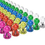 Tiergrade Push Pin Magnets, 60 Pack Assorted Color Strong...