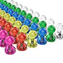 Tiergrade Push Pin Magnets, 60 Pack Assorted Color Strong Magnetic Push Pins, Perfect Magnets for Whiteboard, Refrigerator, Map and Calendar