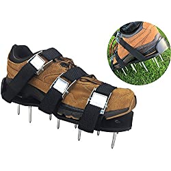 Lawn Aerator Shoes - Heavy Duty, 3 Zinc Alloy Buckles, 3 Heavy Duty Nylon Straps, EXTRA NUTS and a wrench!!!
