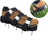 Kyпить Lawn Aerator Shoes - EXTRA NUTS INCLUDED! Heavy Duty, 3 Zinc Alloy Buckles, 3 Heavy Duty Nylon Straps, EXTRA NUTS and a wrench!!! на Amazon.com