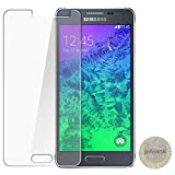 Infolink Premium 9H Hardness Toughened Tempered Glass Screen Protector Screen Guard for SAMSUNG Galaxy Alpha [9H Hardness] [Crystal Clear] [Scratch-Resistant] [No-Bubble] [Long Life] (CHECK FOR INFOLINK HOLOGRAM)