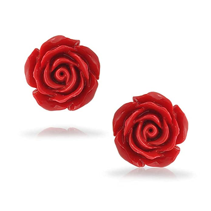 143 Charming Fabric Rose Button