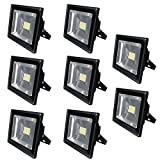 8X 80W Warm White IP65 Waterproof SMD Floodlight Security Lamp Bright Light LED Flood Light Outdoor & Indoor , 85-265V