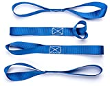 Vault Soft Loop Tie Down Straps 1200 Lbs Capacity. 4 Pack. Strap Down an ATV - UTV - Motorcycle - Dirt Bike & More. Prevent Damage and Scratches. Works Great With Ratchet and Cambuckle Strap