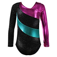 HUANQIUE Long Sleeve Sleeveless Butterfly Leotards For Girls Dance Gymnastics 2-14 Years