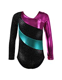 HUANQIUE One-piece Ballet Gymnastics Leotards For Girls Dance Unitards