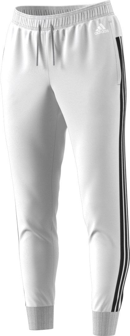 adidas Women's Athletics Essential Cotton Fleece 3-Stripe Jogger Pants, White/Black, X-Small
