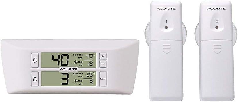 AcuRite 00986 Termómetro de refrigerador con 2 sensores de ...