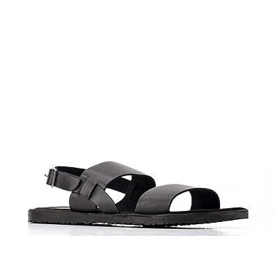 31ef44ffb86d Base London TITAS Mens Leather Sandals Black  Amazon.co.uk  Shoes   Bags
