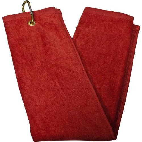 Tri-Fold Towel - Red (Red Tri Fold)