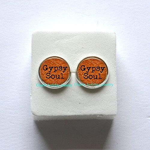 Gypsy Soul Earrings, Gypsy Jewelry, Gypsy Earrings, Hippie Jewelry, Bohemian Earrings, Boho Jewelry, Gypsy Soul Print, Hippie Earrings (Gypsy Costume Ideas For Halloween)