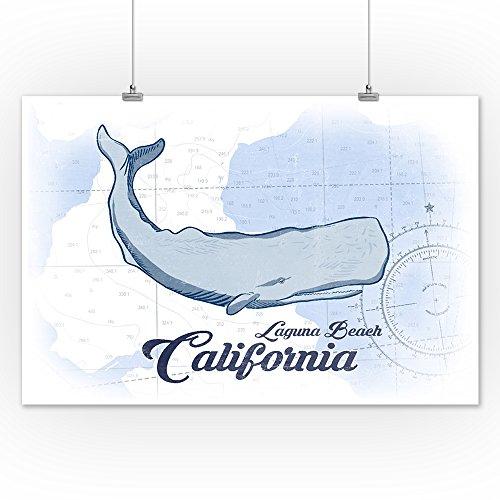 24 Beach nbsp; nbsp;coastal 16 California Print nbsp;azul X Multicolor Icon Giclee nbsp; nbsp;ballena Papel nbsp; Laguna dfOqxwO