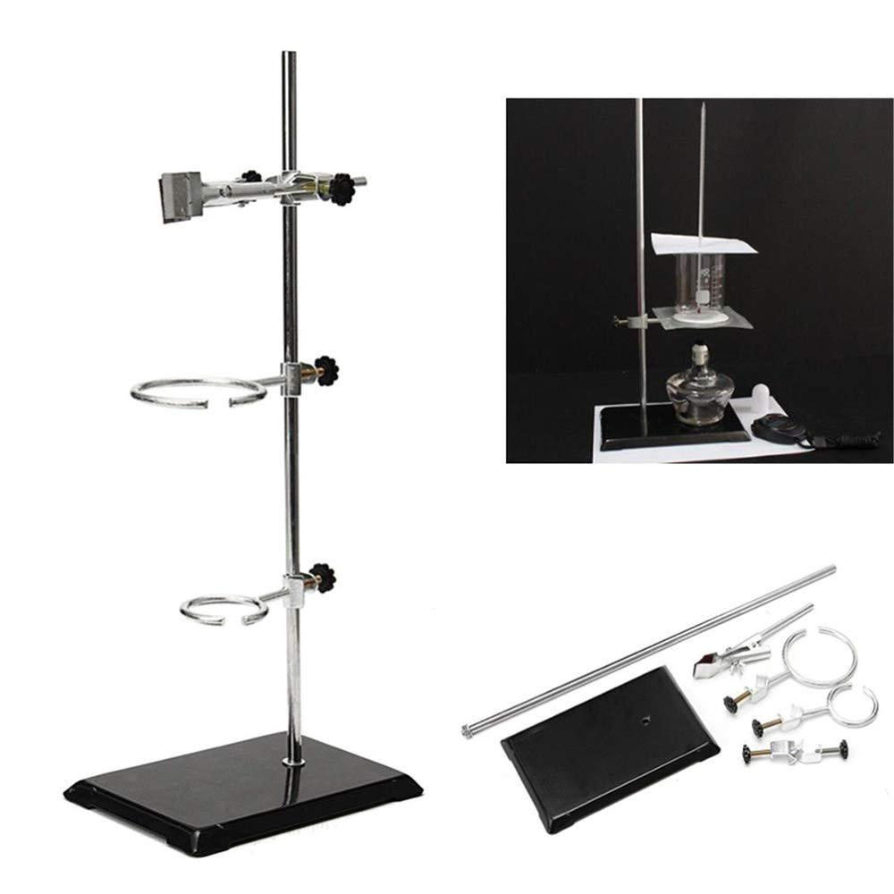 Clamp TBvechi 50CM Laboratory Retort Stands Support Clamp Flask Platform Set High Height