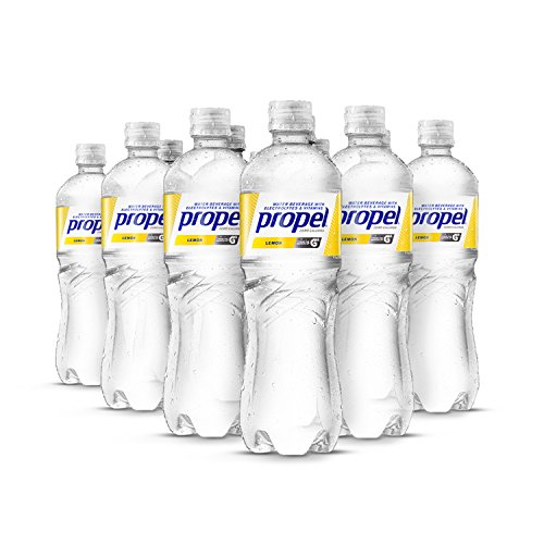 Propel, Lemon, Zero Calorie Water Beverage with Electrolytes & Vitamins C&E, 24 Fl Oz (Pack of 12)