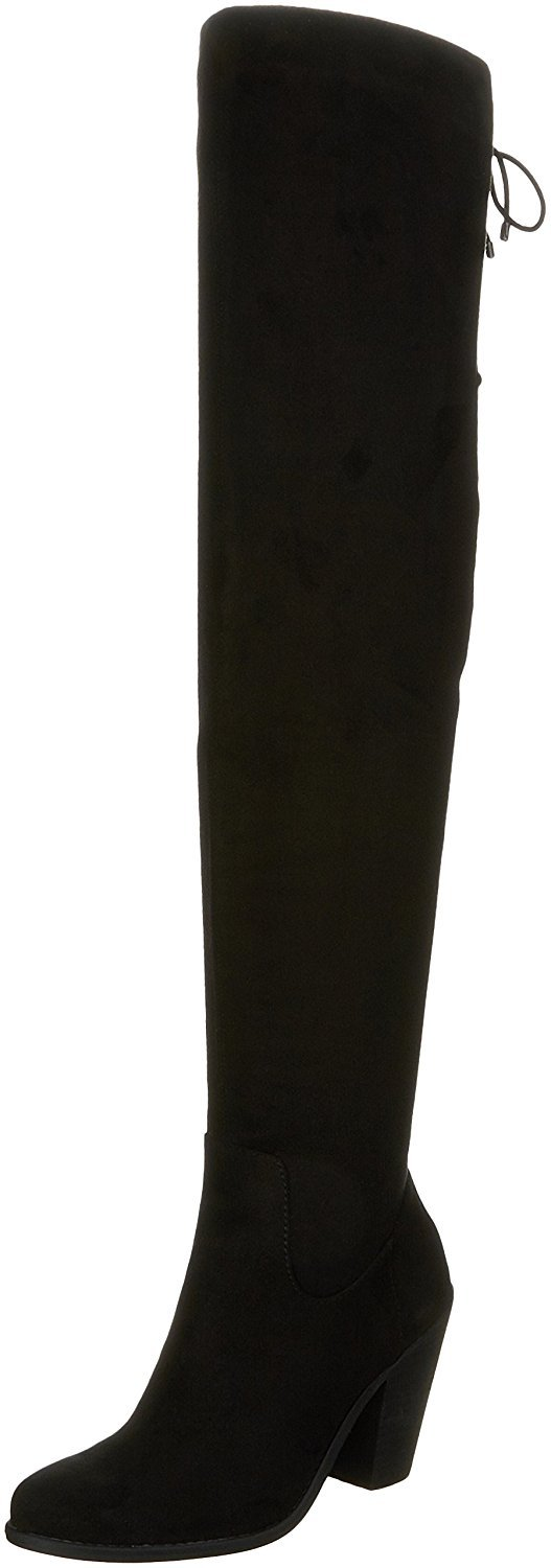 Jessica Simpson Women's Coriee Over The Knee Boot,Black Stretch Microsuede,US 10