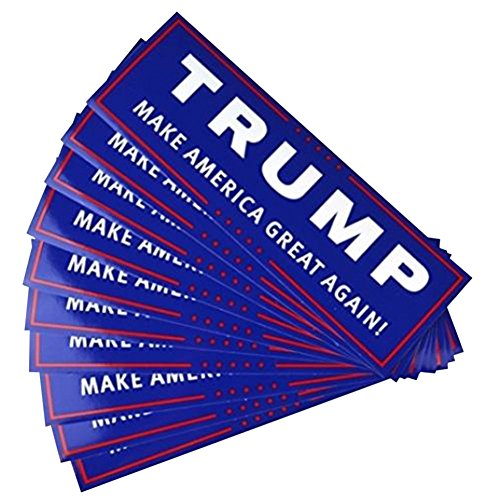 10 Pcs Keep America Great President Donald Trump 2020 Election Patriotic Bumper Sticker Auto Decal Conservative Republican Blue