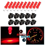 odometer toyota corolla - cciyu T5 37 74 Wedge SMD Led Bulbs Instrument Cluster Light Panel Gauge Light with Sockets,10Pack