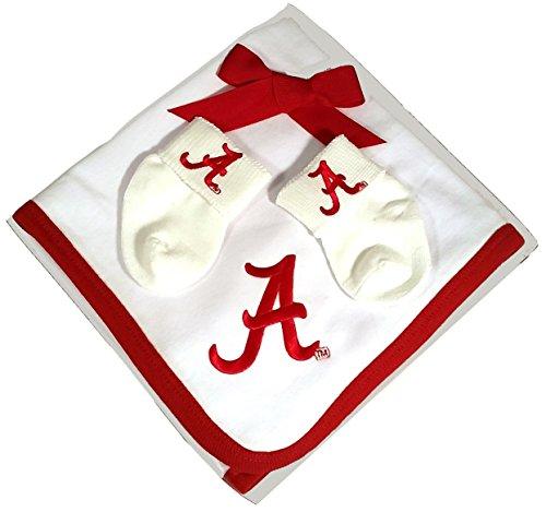 (Future Tailgater Alabama Crimson Tide Baby Receiving Blanket and Socks Set)