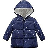 ARAUS Baby Girls Winter Puffer Coat Warm Long Sleeve Strawberry Hooded Outerwear