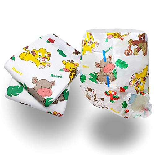 Rearz - Safari - Adult Diaper (Sample 2 Pack) (Small, 27 - 36)