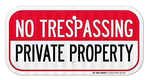 Trespassing Private Property Sign Weatherproof
