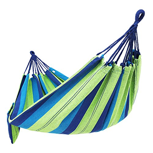 SONGMICS Cotton Hammock Swing Bed for Patio Porch,Garden Backyard for Traveling, Camping, Hiking, Backpacking Lounging Heavy-Duty, Lightweight and Portable Indoor&Outdoor UGDC15L (Porch Beds Swing)