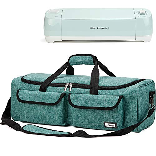 HOMEST Carrying Case Compatible with Cricut Explore Air 2, Cricut Maker, Die Cut Machine Tote, Green, Patent Pending