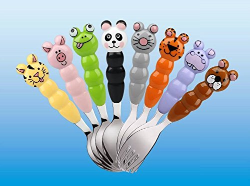 Eat4Fun Animos Collection Kids Spoon, Kitty