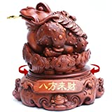 GL&G Lucky Resin toad Crafts checkout counter Hotel Front desk office Home Tabletop Scenes Ornaments Sculptures Statues High-end Opened Business gift,353537CM