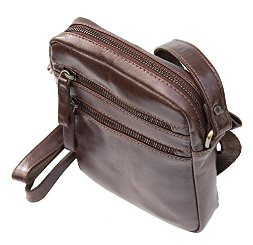 Prime Hide, Borsa a mano uomo marrone brown 20 x 16 x 4 cm