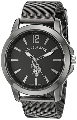 U.S. Polo Assn. Classic Men's Quartz Metal and Alloy Watch, Color:Black (Model: - Polo Big Watch