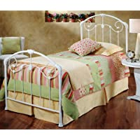 Hillsdale Furniture 325BFR Maddie Bed Set with Rails, Full, Glossy White