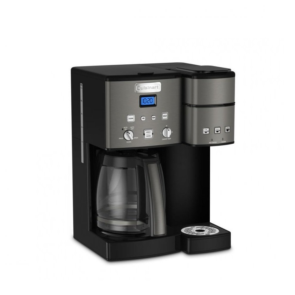 Cuisinart SS-15BKS Coffee Center 12-Cup Coffeemaker & Single Serve Brewer, Black (Certified Refurbished)