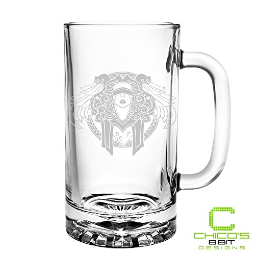 World of Warcraft - Priest Class - Etched Beer Mug