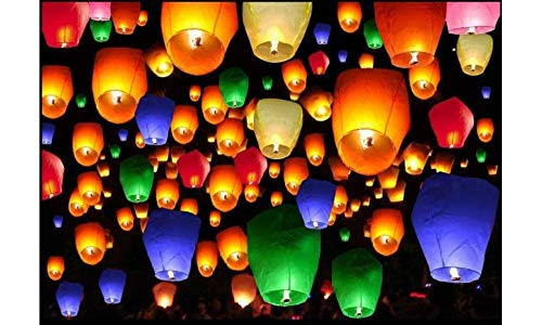 - Sky Lanterns 100% Biodegradable and Environmentally Friendly Paper Lanterns Multi-Color Assortment for Events, Birthdays, Weddings, Parties, New Years, Memorial Ceremonies and More (10 Pack)