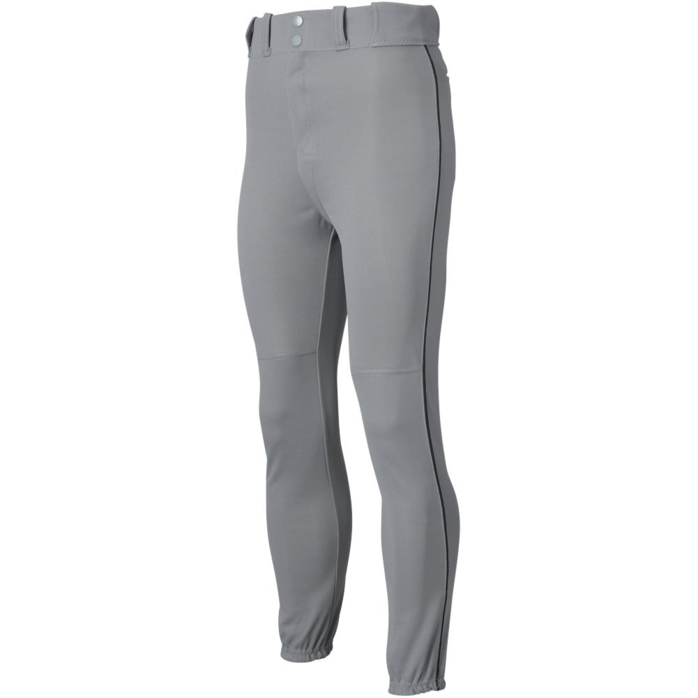 All Star Mens Piped Baseball Pants Grey/Black 2Xl