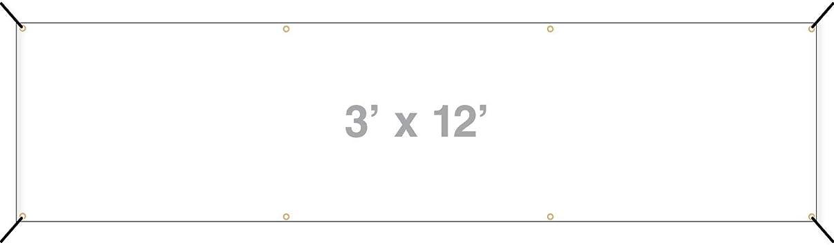 6x6 CGSignLab Open House Stripes White Heavy-Duty Outdoor Vinyl Banner