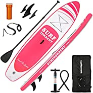 """SURFTORRENT 10'6''/33''/6"""" Inflatable Stand Up Paddle Board Thick PVC Inflatable Kayak with SUP Accessories &a"""